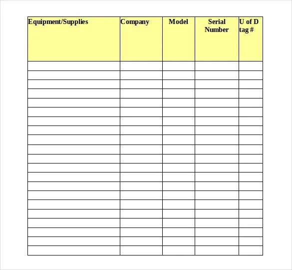 16+ Tool Inventory Templates \u2013 Free Sample, Example, Format Download - medical supply inventory list template