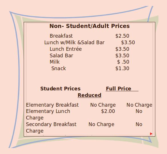 16+ School Menu Templates \u2013 Free Sample, Example Format Download - menu list sample