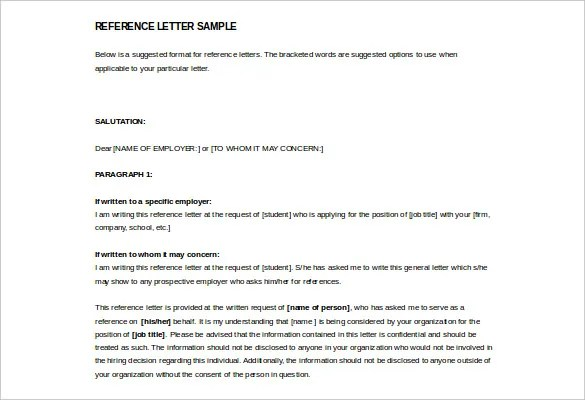 letters of reference templates free letters of reference templates free - Letters Of Reference Template