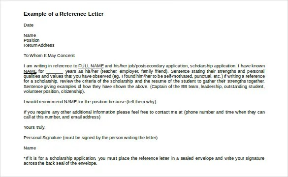 49+ Reference Letter Templates - PDF, DOC Free  Premium Templates - format for letter of reference