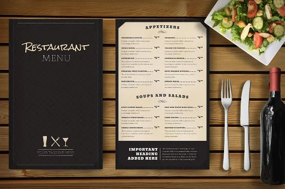 restaurants menu template - Onwebioinnovate - food menu template