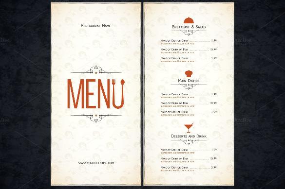 make a menu template - Romeolandinez - how to make a restaurant menu on microsoft word