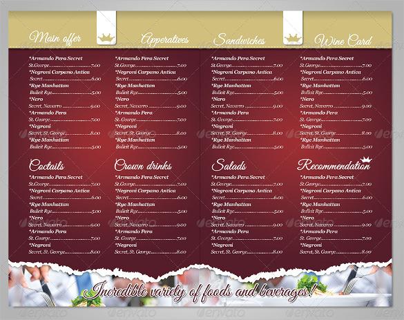 template of a menu - Physicminimalistics - Sample Pizza Menu Template