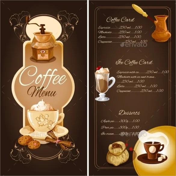 Coffee/Cafe Menu Templates \u2013 31+ Free PSD, EPS Documents Download