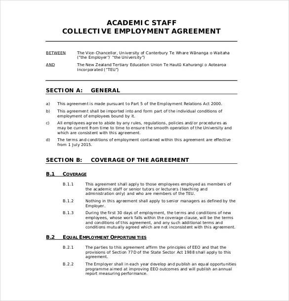 29+ Employment Agreement Templates \u2013 Free Word, PDF Format Download