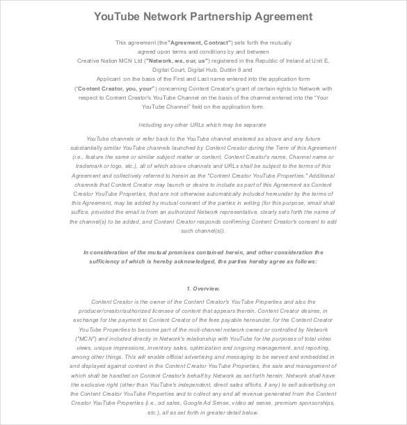 12+ Partnership Agreement Templates \u2013 Free Sample, Example, Format - sample partnership agreements
