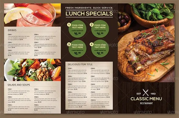 restaurant menu free template - Funfpandroid - free food menu template