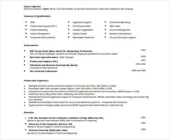 Automobile Resume Template u2013 22+ Free Word, PDF Documents Download - employment resume template