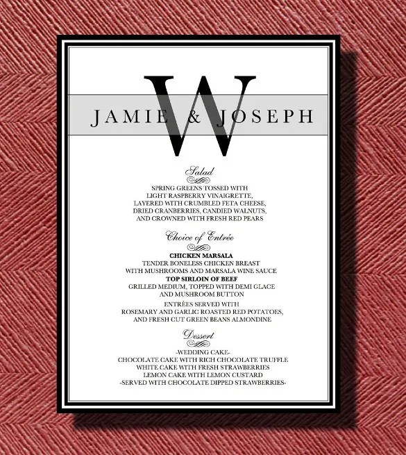 Dinner Menu Templates \u2013 36+ Free Word, PDF, PSD, EPS, InDesign - dinner menu templates free
