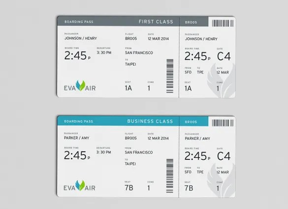 26+ Examples of Boarding Pass Design  Templates - PSD, AI Free - boarding pass template