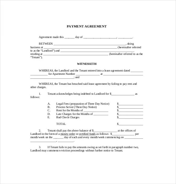 16+ Payment Agreement Templates - Free Sample, Example, Format