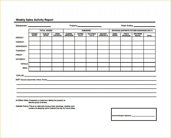 Sample Sales Activity Report Template - 23+ Free Word, PDF, Excel