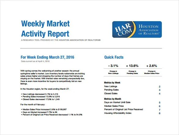 Marketing Report Template To Marketing Weekly Report Template Sample