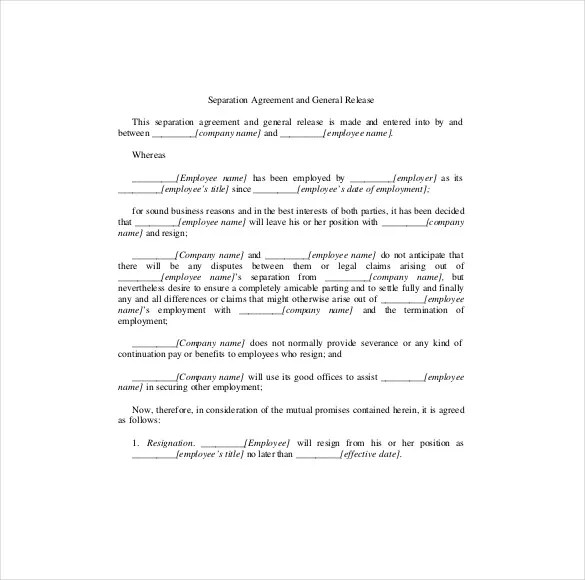 16+ Separation Agreement Templates - Free Sample, Example, Format
