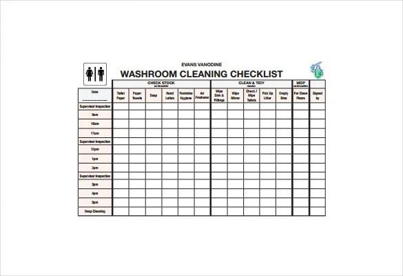 21+ Bathroom Cleaning Schedule Templates - PDF, DOC Free  Premium