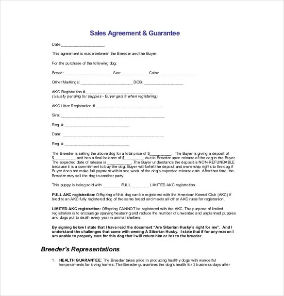 15+ Sales Agreement Templates - Free Sample, Example, Format