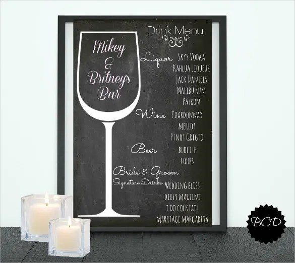 Drink Menu Templates \u2013 30+ Free PSD, EPS Documents Download! Free