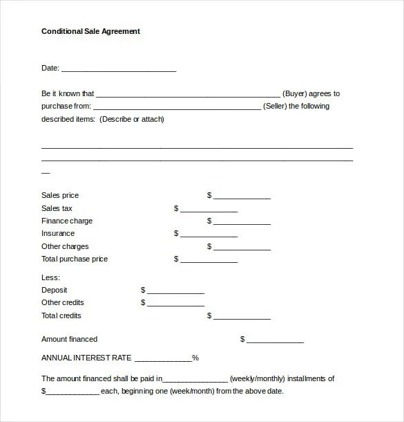 15+ Sales Agreement Templates \u2013 Free Sample, Example, Format - simple sales contracts