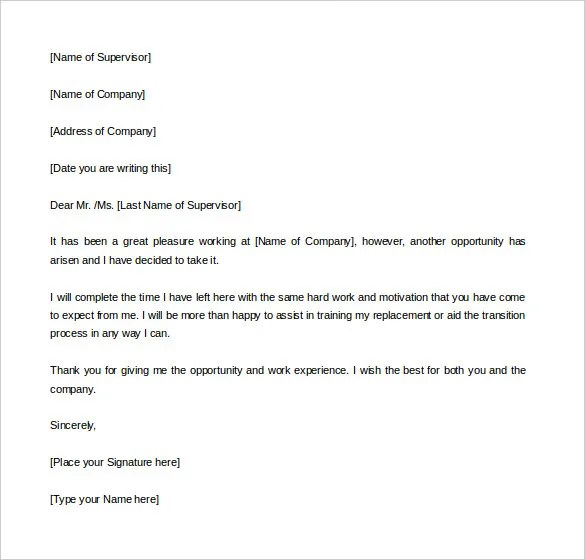 two weeks notice templates - Goalgoodwinmetals - 2 Weeks Notice Template