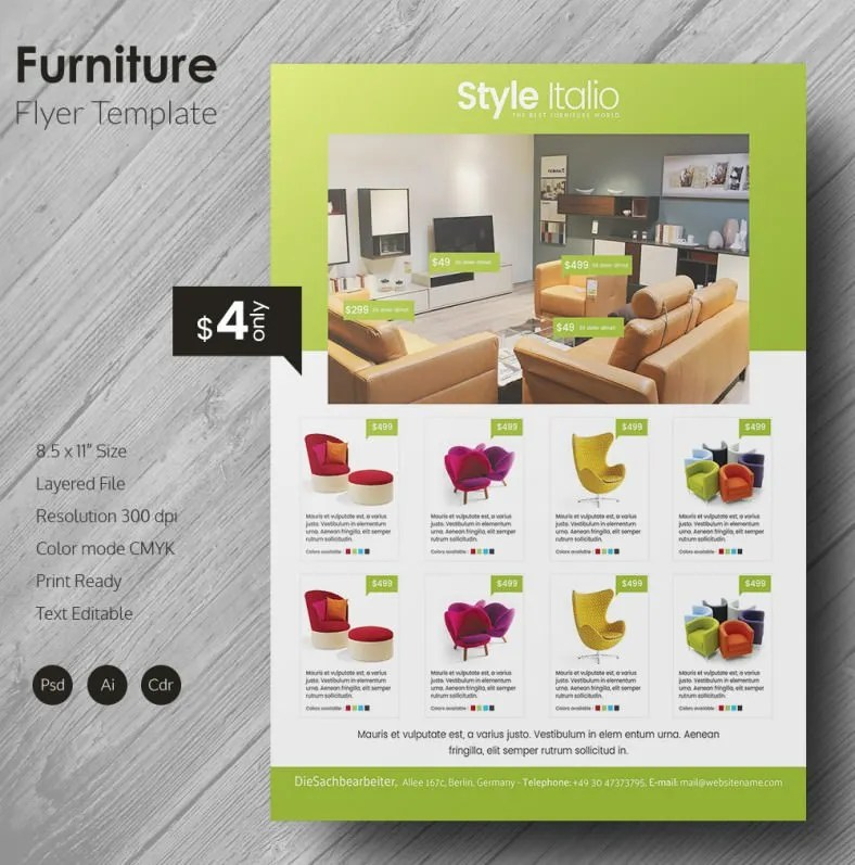 Grand Furniture Flyer Template Free  Premium Templates - promotional flyer designs