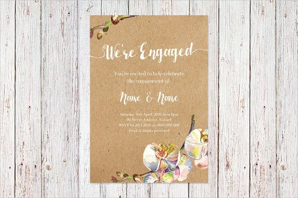 25+ Engagement Invitation Templates - PSD, AI Free  Premium Templates