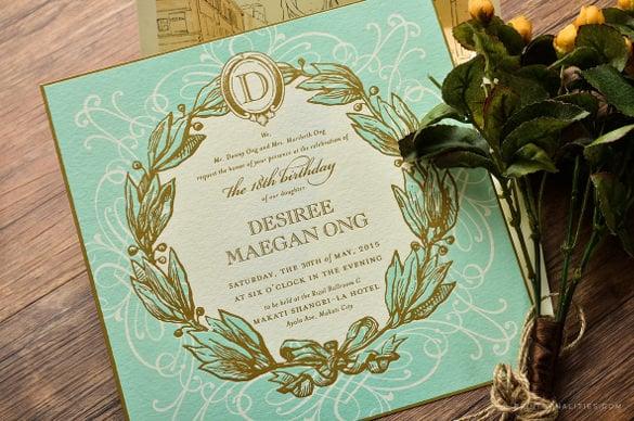 format invitation card