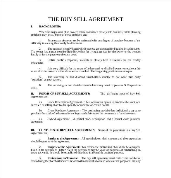 12+ Buy Sell Agreement Templates u2013 Free Sample, Example, Format - business agreements
