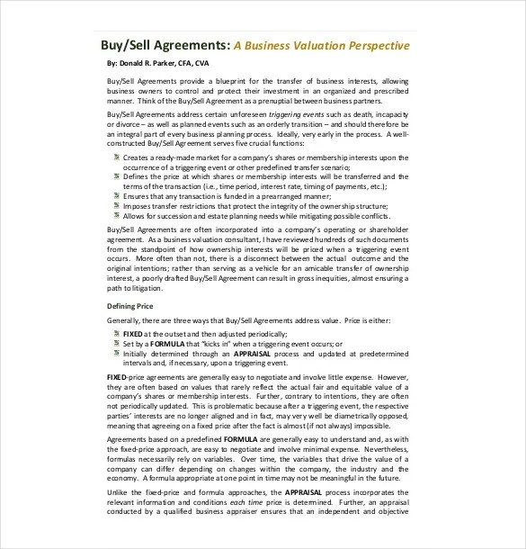 12+ Buy Sell Agreement Templates u2013 Free Sample, Example, Format - sample business agreements