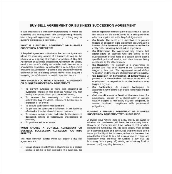 12+ Buy Sell Agreement Templates u2013 Free Sample, Example, Format - agreement templates