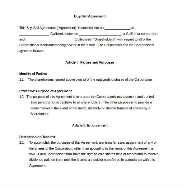 Free Sample Of Contract To Sell Resume Pdf Download