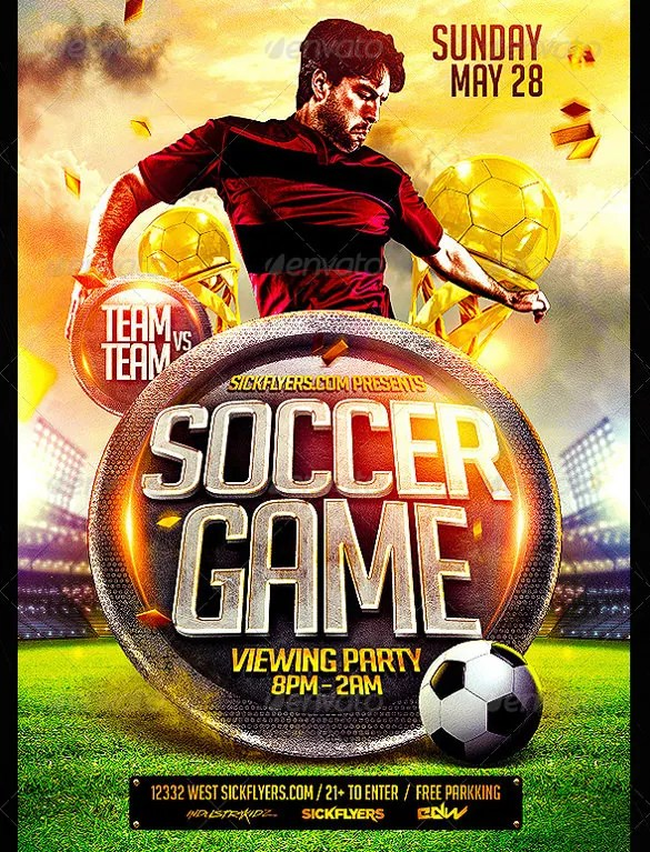 43+ Soccer Flyer Templates in PSD, Word, EPS Vector, AI Free