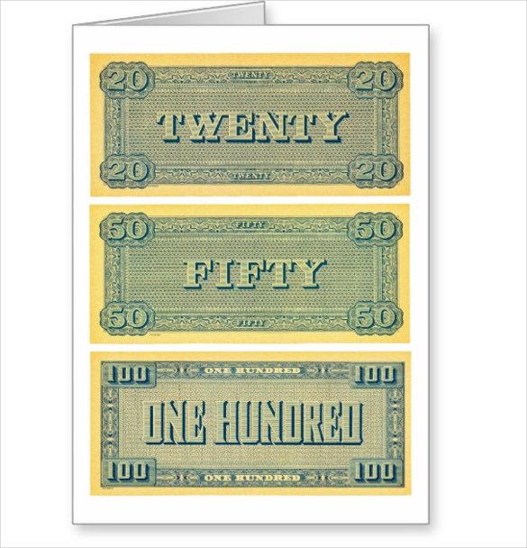 6+ Play Money Templates - PSD, PDF Free  Premium Templates - free money templates