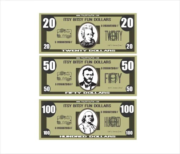 Play Money Template Free \ Premium Templates - money coupon template