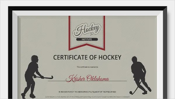 Hockey Certificate Template - 9+ Free Word, PDF Documents Download