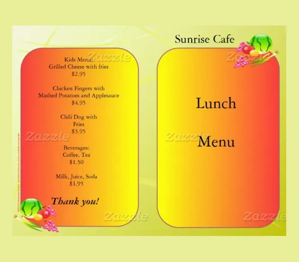 Lunch Menu Templates - 34+ Free Word, PDF, PSD, EPS, InDesign Format