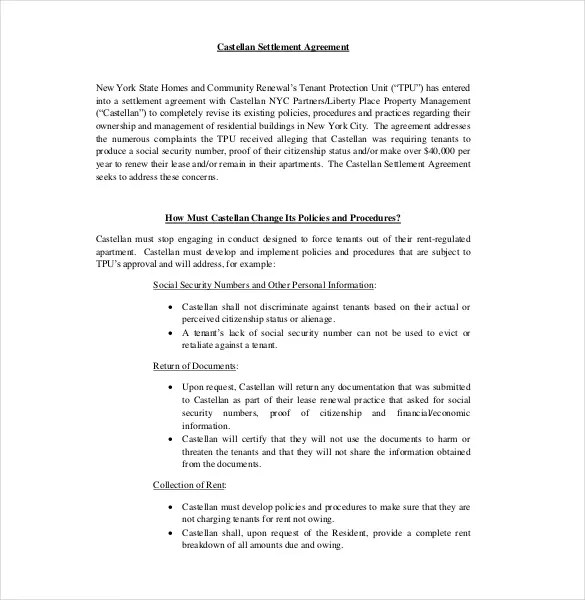15+ Settlement Agreement Templates - Word, PDF, Pages Format