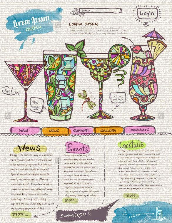 Cocktail Menu Templates \u2013 54+ Free PSD, EPS Documents Download
