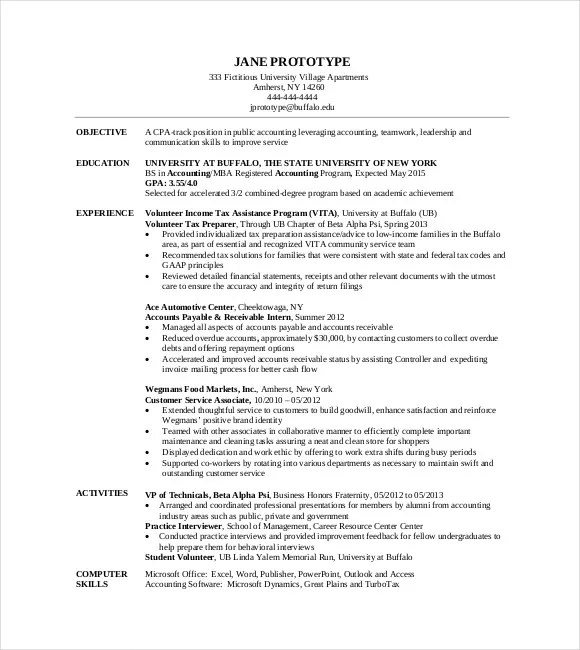 MBA Resume Template \u2013 11+ Free Samples, Examples, Format Download