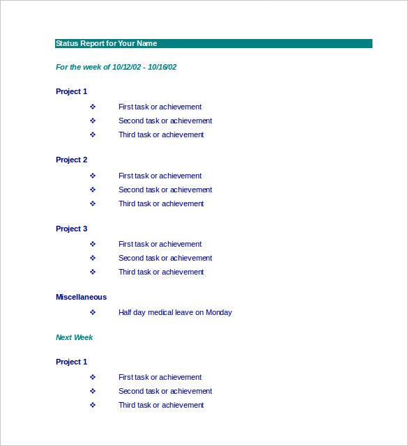 33+ Weekly Activity Report Templates - PDF, DOC Free  Premium