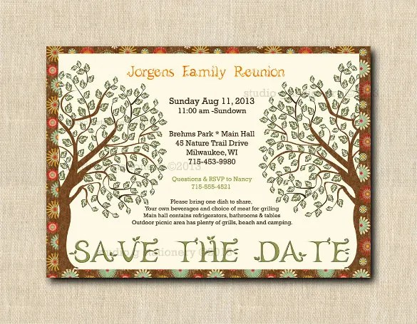 35+ Family Reunion Invitation Templates - PSD, Vector EPS, PNG