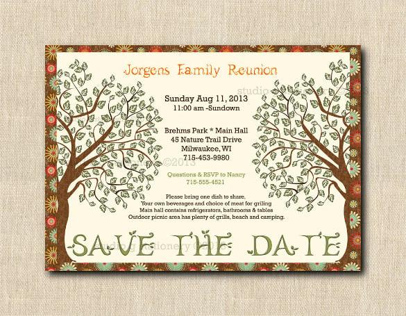 family reunion invitations free templates