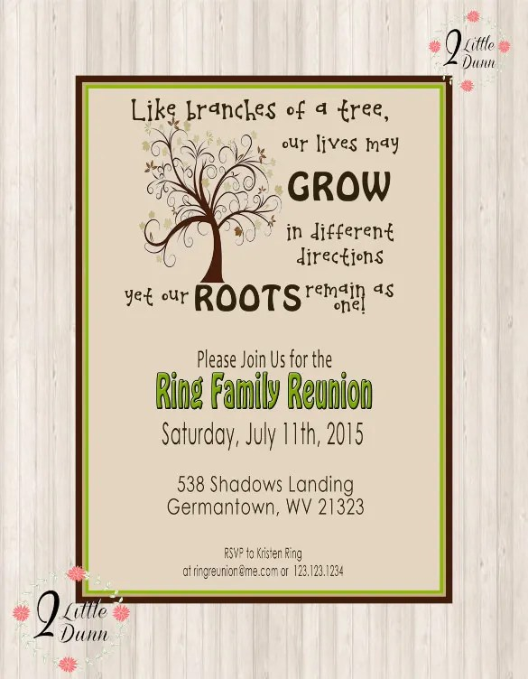 34+ Family Reunion Invitation Template - Free PSD, Vector EPS, PNG - get together invitation template