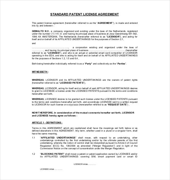 13+ License Agreement Templates \u2013 Free Sample, Example, Format