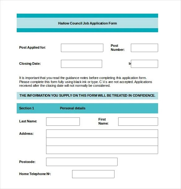 Job Application Template - 19+ Examples in PDF, Word Free - Job Application Template