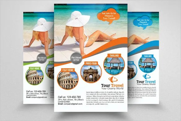 Travel Flyer Template - advertising flyer template