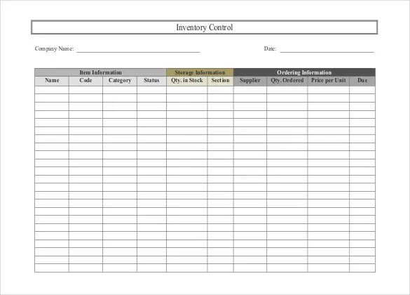 Inventory Spreadsheet Template - 48+ Free Word, Excel Documents - Inventory Sheet Sample