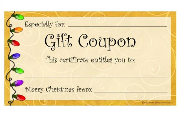 Homemade Coupon Templates \u2013 23+ Free PDF Format Download Free