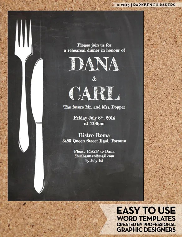 Dinner Invitation Template - 44+ Free PSD, Vector EPS, AI, Format - dinner invite templates