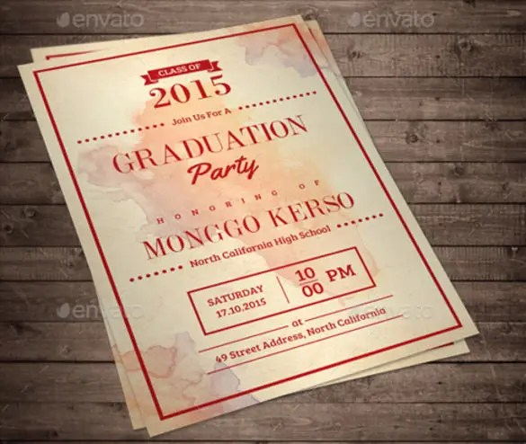Formal Invitation Templates u2013 53+ Free PSD, Vector EPS, AI, Format - graduation invitation template