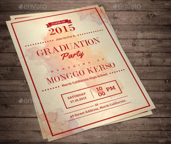 Formal Invitation Templates u2013 53+ Free PSD, Vector EPS, AI, Format - graduation invitation template